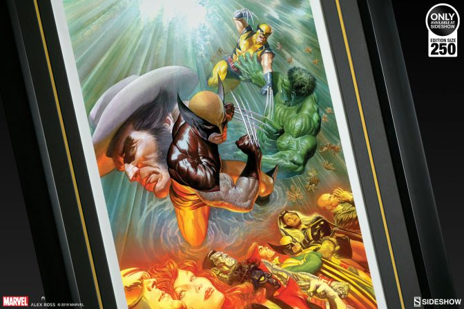 See Logan's Legacy in the Death of Wolverine Fine Art Lithograph by Alex Ross