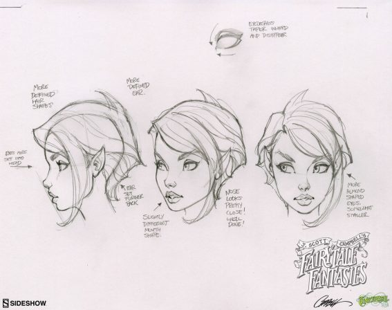 See J. Scott Campbell's Behind the Scenes Sketches for the Tinkerbell Statue!