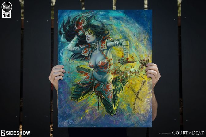 Artist Olivia Delivers the Underworld's Judgement in the Gallevarbe: Eviscerator Fine Art Print
