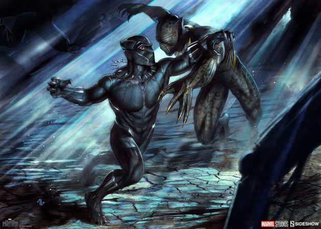 Black Panther vs Erik Killmonger Fine Art Print by Adi Granov