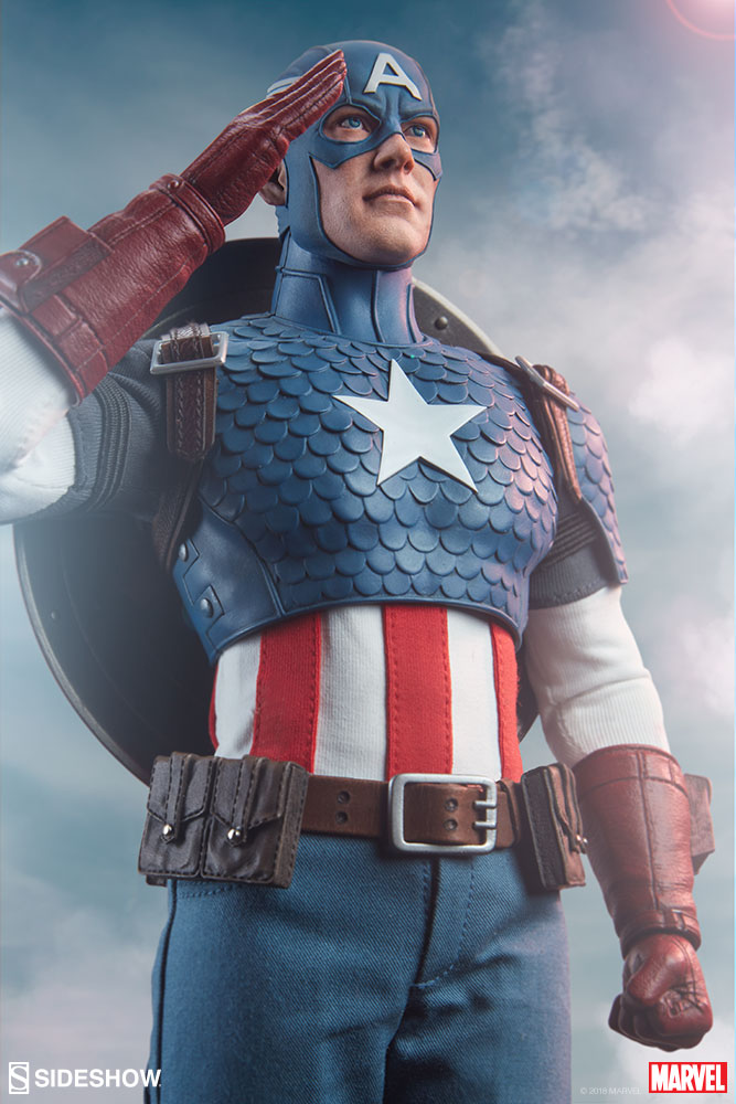 Salute the Star-Spangled Avenger with the Captain America Sixth Scale Figure  Sideshow Collectibles