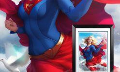 Supergirl Fine Art Print- Online Comic-Con