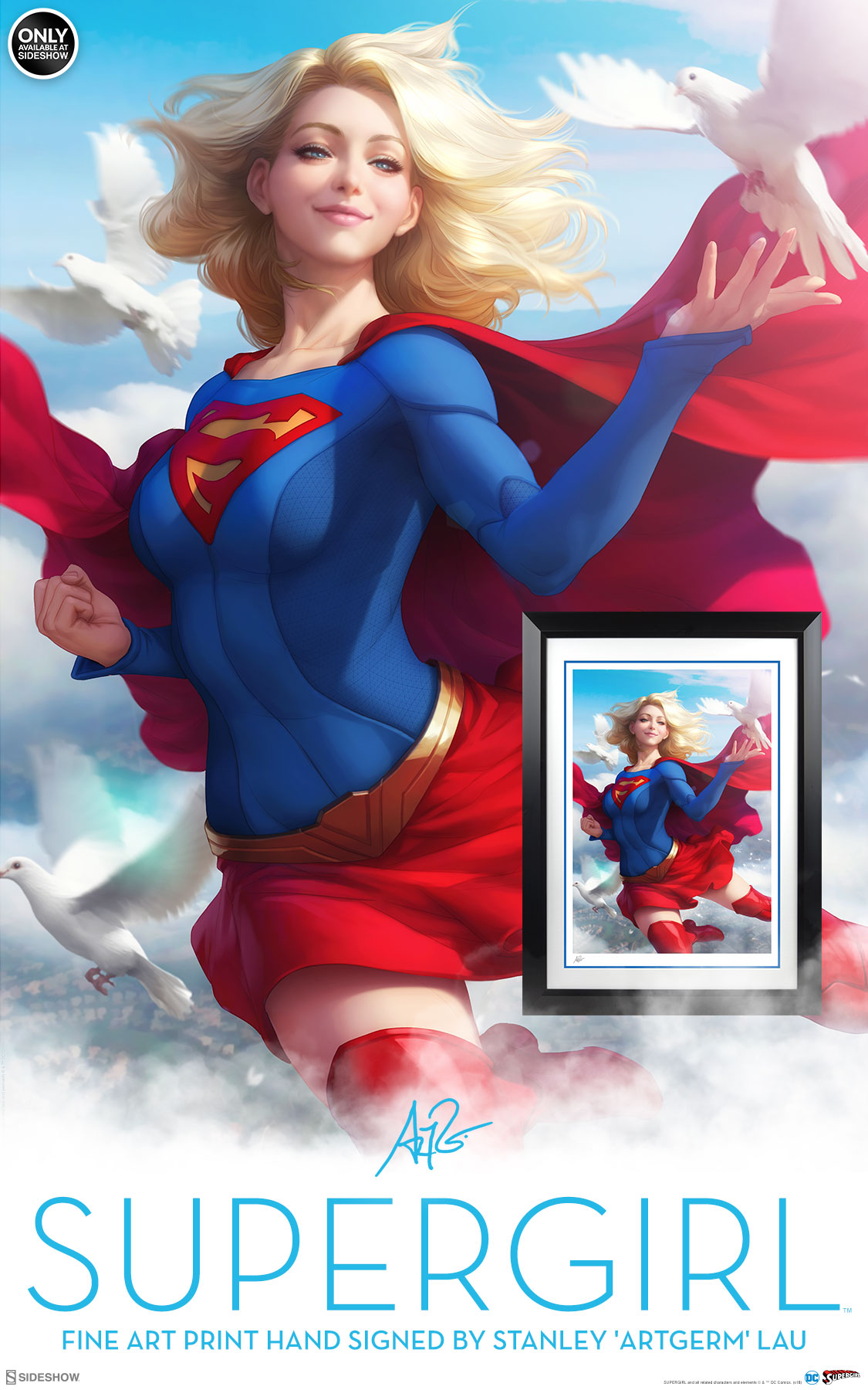 Supergirl Fine Art Print Sideshow Collectibles