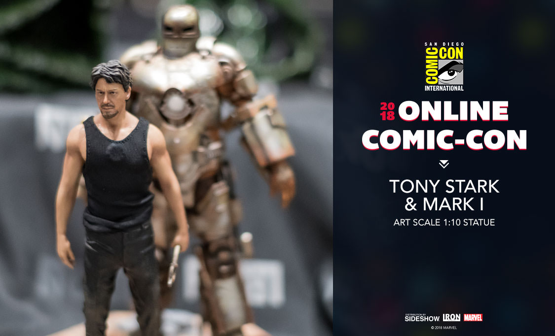 Iron Studios Tony Stark And Mark 1 Art Scale 1 10 Statue Sideshow Collectibles