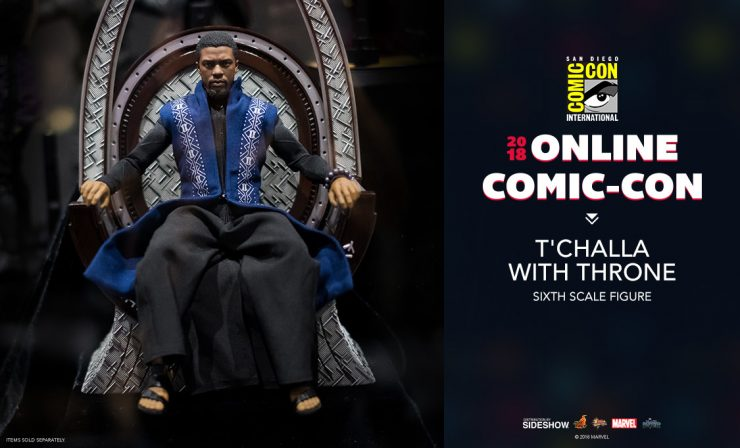 Hot Toys T'Challa with Throne Sixth Scale Figure