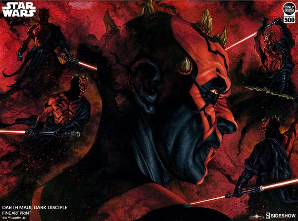Darth Maul- Dark Disciple Leads the Line of Star Wars Mythos Fine Art Prints