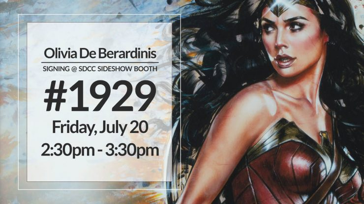 Olivia De Berardinis Signing at the Sideshow Booth