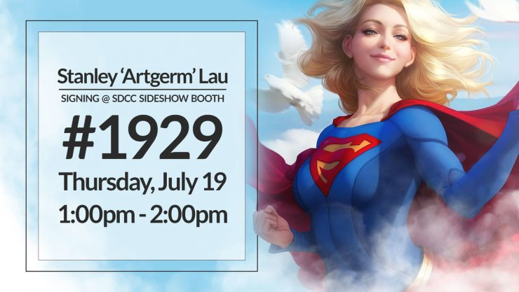 Stanley 'Artgerm' Lau Signing at the Sideshow Booth