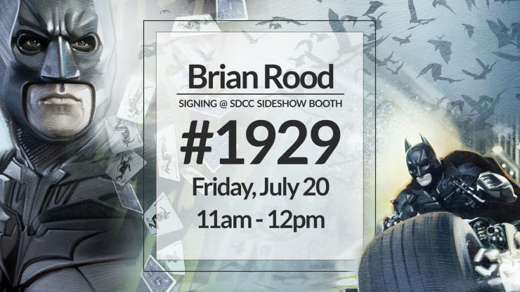 Brian Rood Signing at the Sideshow Booth