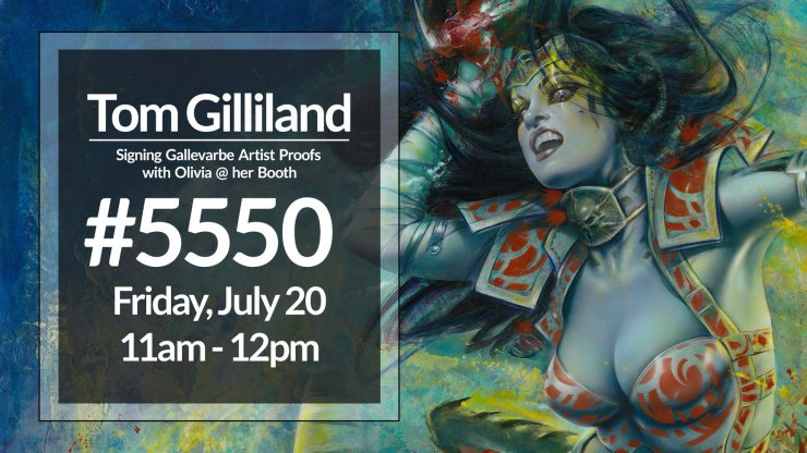 Tom Gilliland and Olivia De Berardinis Signing at Olivia's Booth