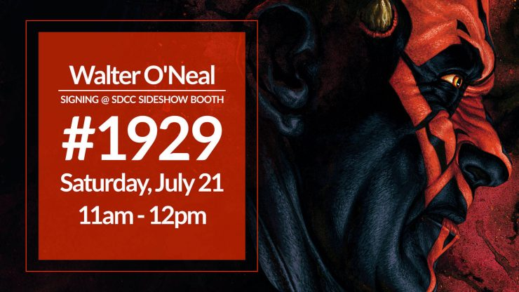Walter O'Neal Signing at the Sideshow Booth