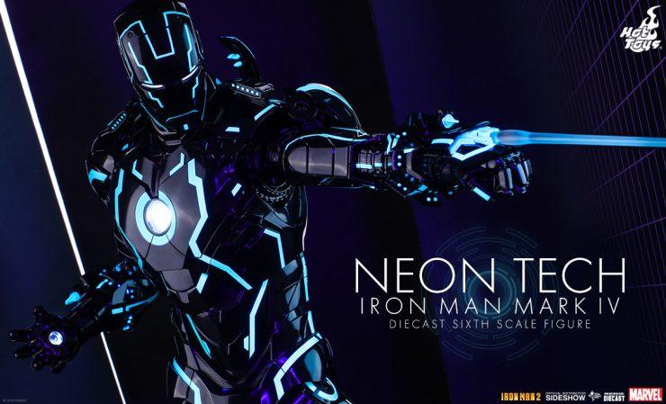 Hot Toys Neon Tech Iron Man Mark IV Diecast Sixth Scale Figure