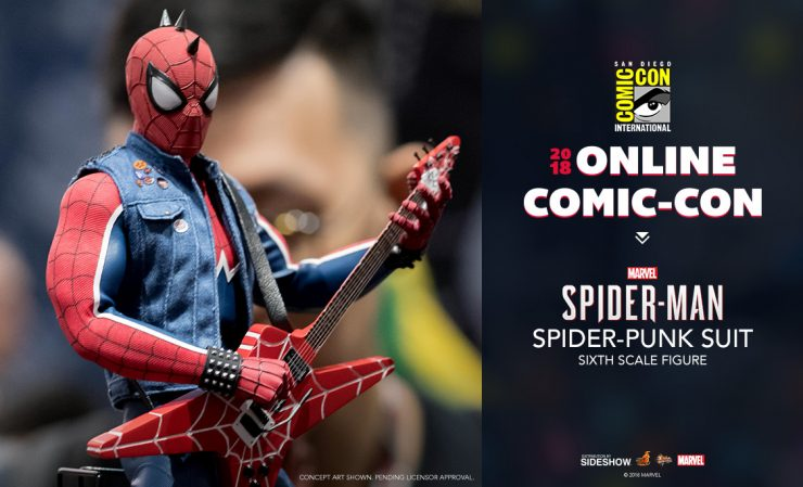 Hot Toys Marvel's Spider-Man Spider-Punk Suit Sixth Scale Figure