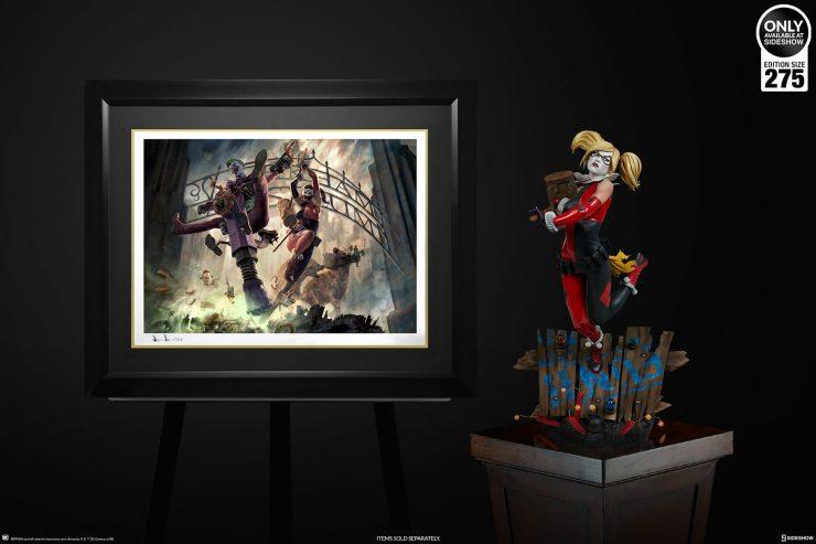 The Joker & Harley Quinn: Arkham Asylum Breakout Fine Art Print by Jon Foster