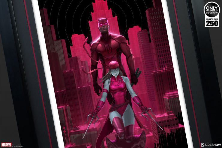 Activate Your Radar Sense with the Daredevil & Elektra Glow in the Dark Fine Art Print