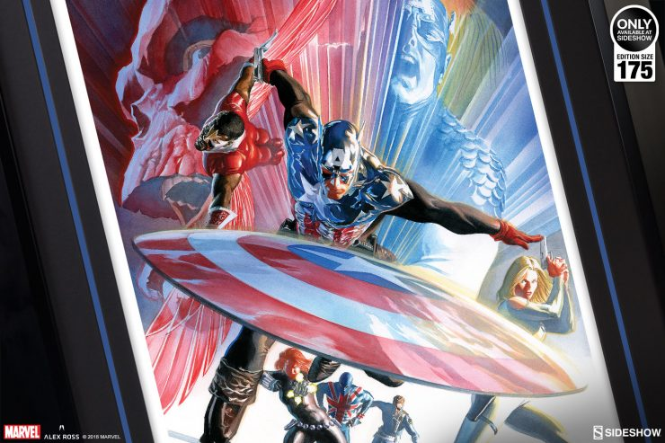 Lead the Charge with the Captain America Issue #600 Fine Art Lithograph by Alex Ross