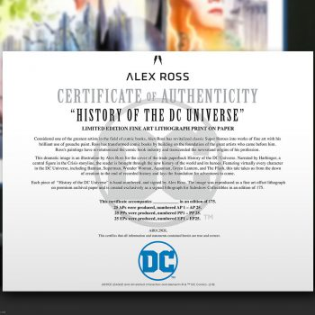 History of the DC Universe Fine Art Lithograph