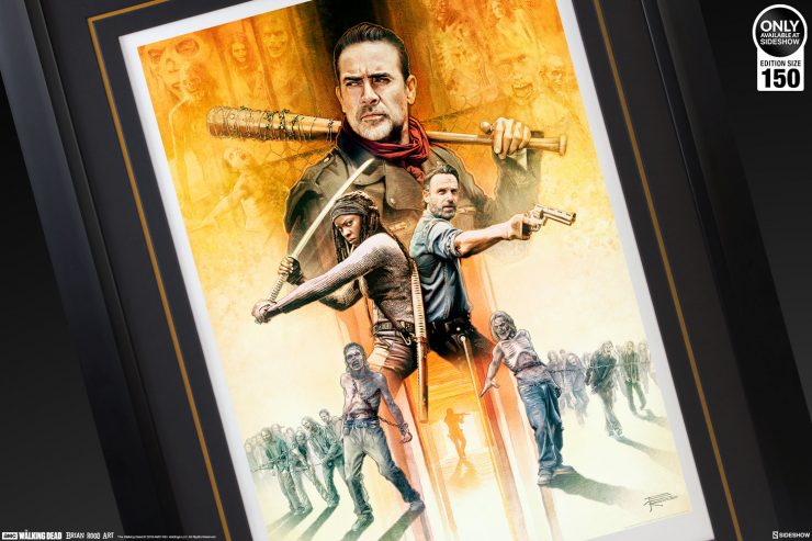 Add the Zombie Apocalypse To Your Art Collection- My Brother's Keeper Walking Dead Art Print by Brian Rood