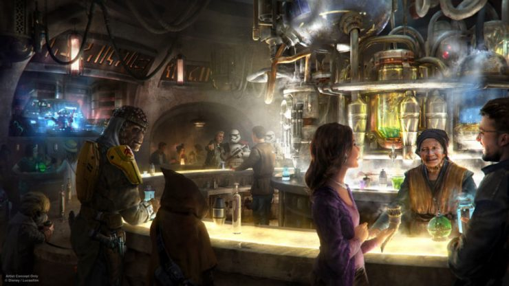 Star Wars Disneyland Cantina Concept Art