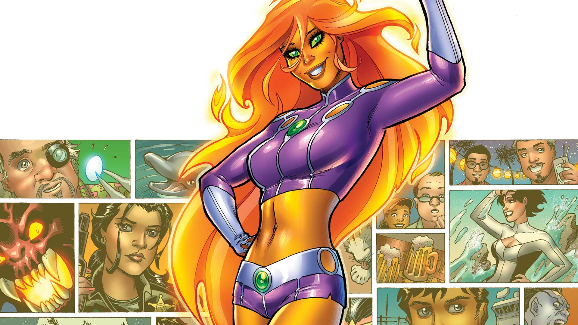 Starfire: Super Power Play-By-Play | Sideshow Collectibles