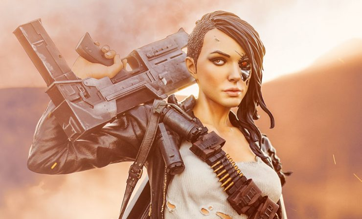 Female Rebel Terminator Collectible Figure