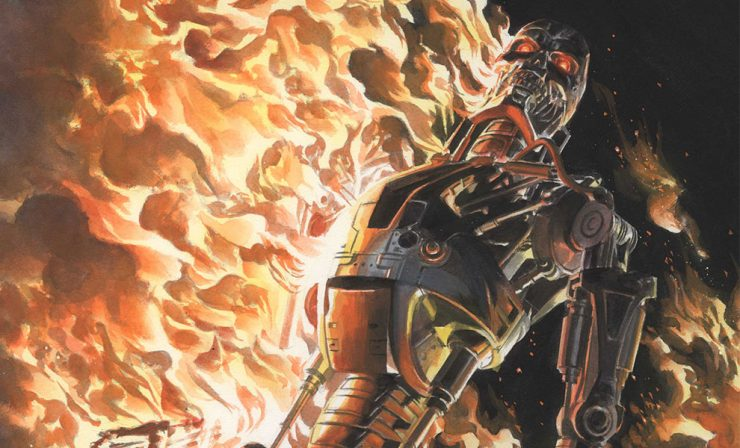 Terminator Burning Earth Lithograph by Alex Ross Art
