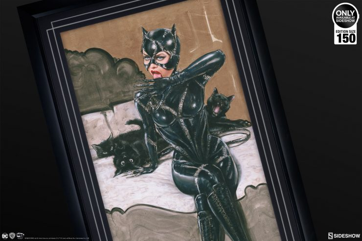The Clawsplay Fine Art Print by Olivia Makes a Purrfect Addition to Your Batman Collection!