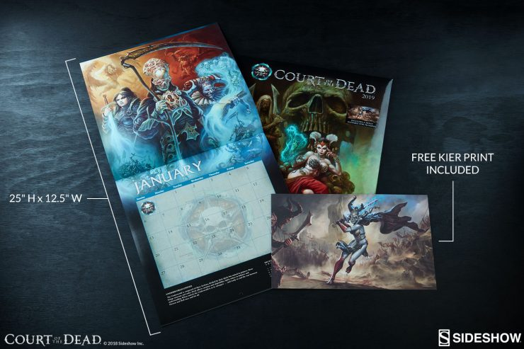 Your Days are Numbered… With the Court of the Dead 2019 Wall Calendar!