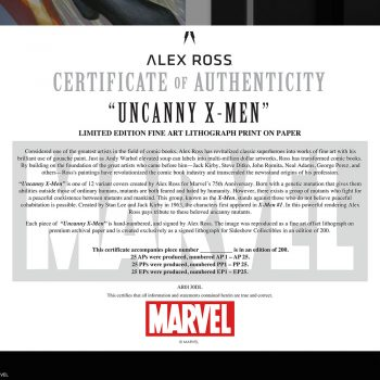 Uncanny X-Men Fine Art Lithograph by Alex Ross
