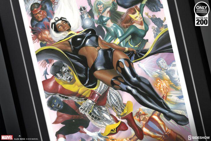 Uncanny X-Men Fine Art Lithograph by Alex Ross Unites the Mutants!
