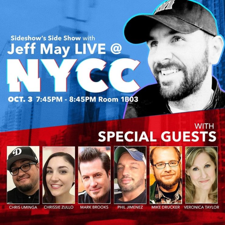 See Sideshow's Side Show with Jeff May live at NYCC!