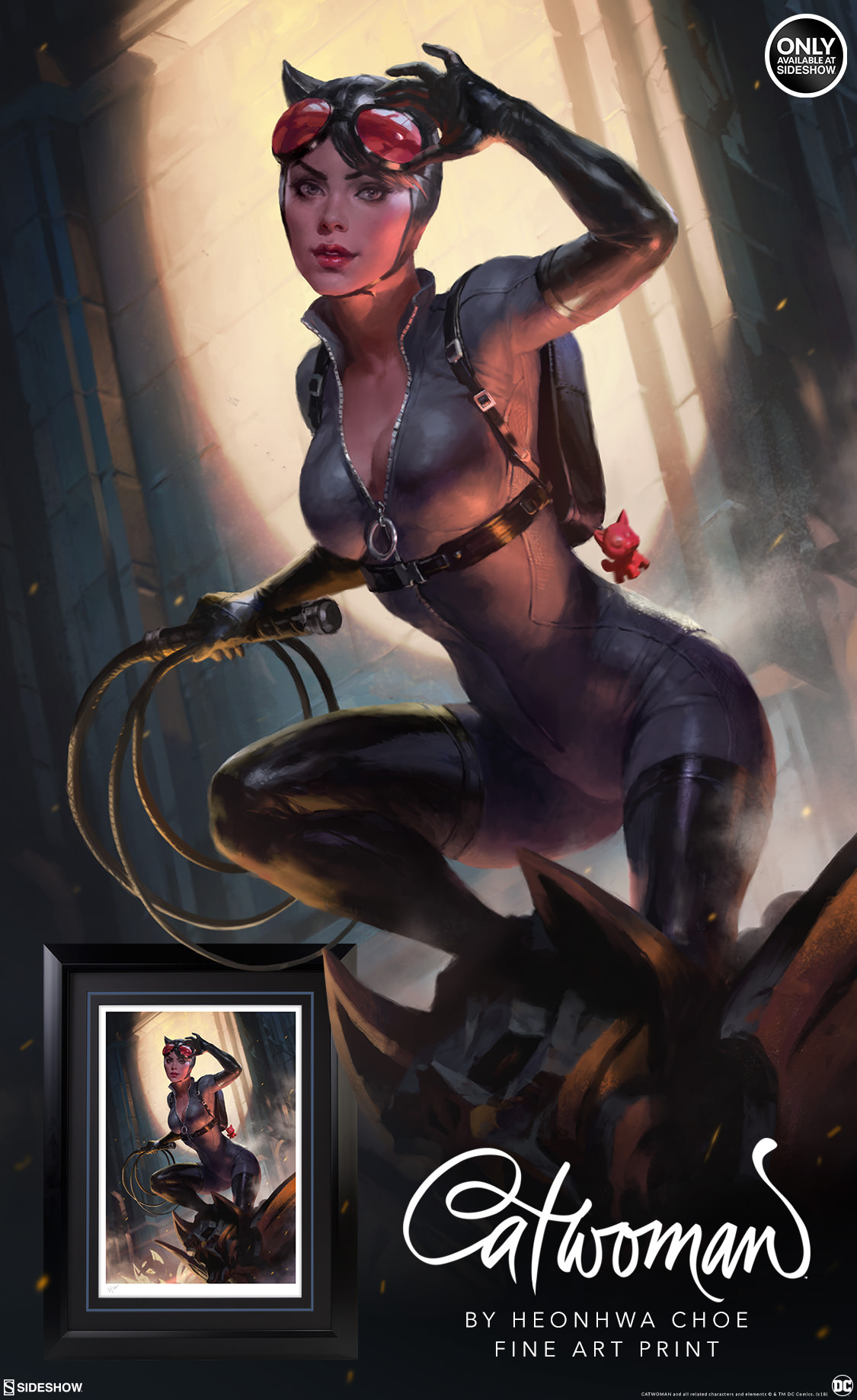 Catwoman Fine Art Print Sideshow Collectibles