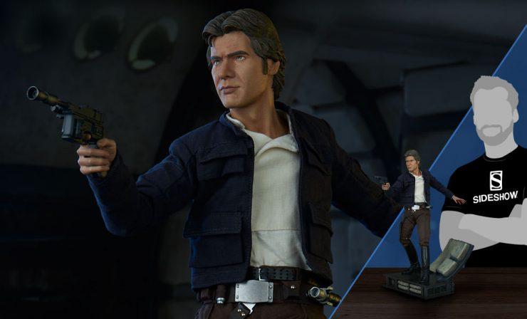 Han Solo Premium Format Figure Production Photos