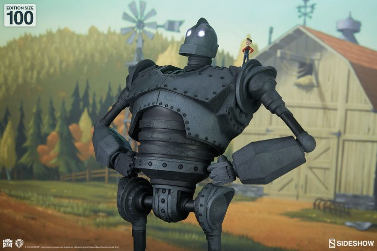 The Iron Giant Cel-Shaded Variant Maquette Brings Your Collection to Coolsville