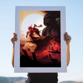Obi-Wan Kenobi: Desert Nomad Fine Art Print by Fabian Schlaga