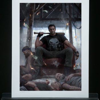 Punisher on Throne Fine Art Print by artist Karla Ortiz
