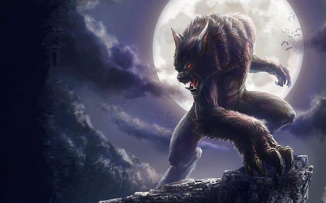 Werewolf on a cliff