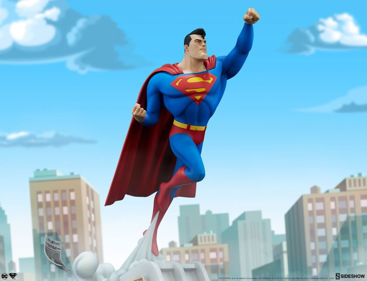 Take Your Collection Up, Up, and Away with the Animated Series Collection Superman Statue