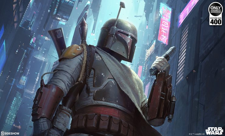 Boba Fett A Force to be Reckoned With Fine Art Print