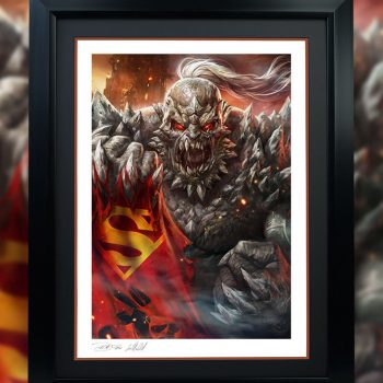 DC art Doomsday Superman