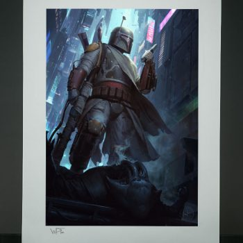 Boba Fett: Force to Be Reckoned With Fine Art Print by Darren Tan