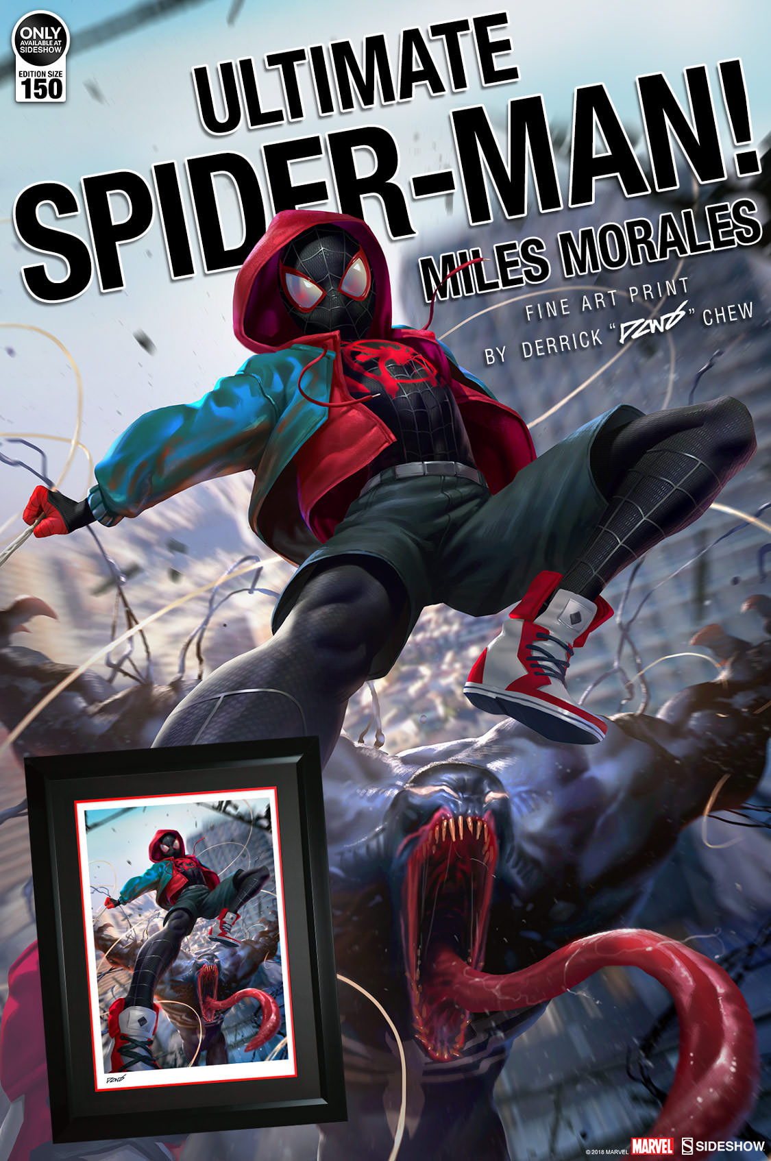 d2c846907fda64 Ultimate Spider-Man Miles Morales Fine Art Print