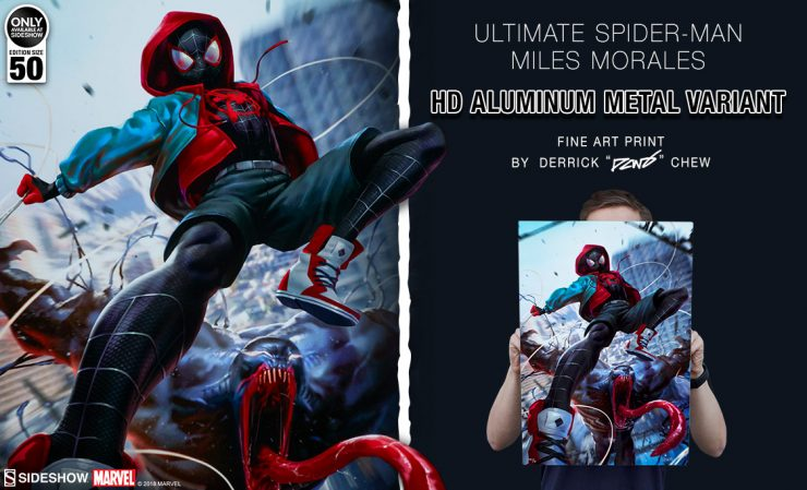 Ultimate Spider-Man Miles Morales HD Aluminum Metal Fine Art Print