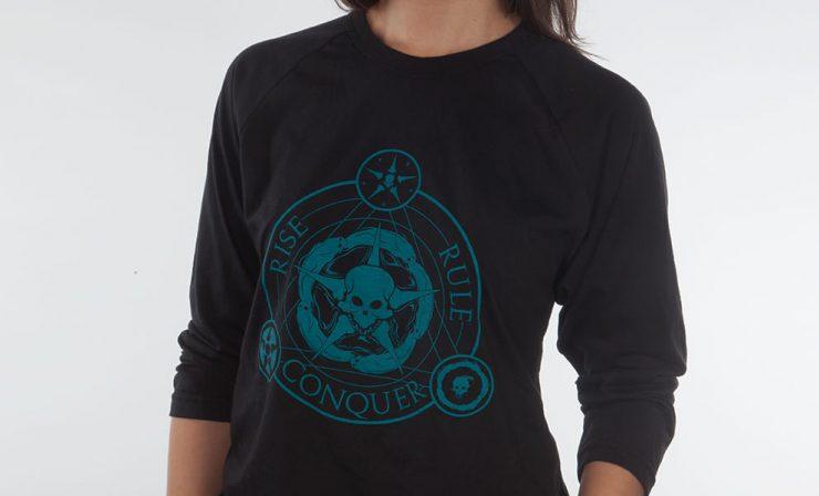 Unsettled Union Black Raglan Shirt