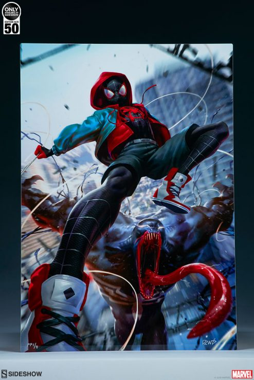 Ultimate Spider-Man! Miles Morales HD Aluminum Metal Fine Art Print