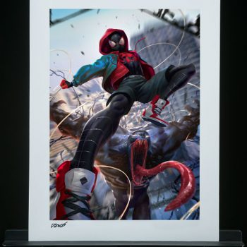 Ultimate Spider-Man! Miles Morales Fine Art Print by artist Derrick Chew