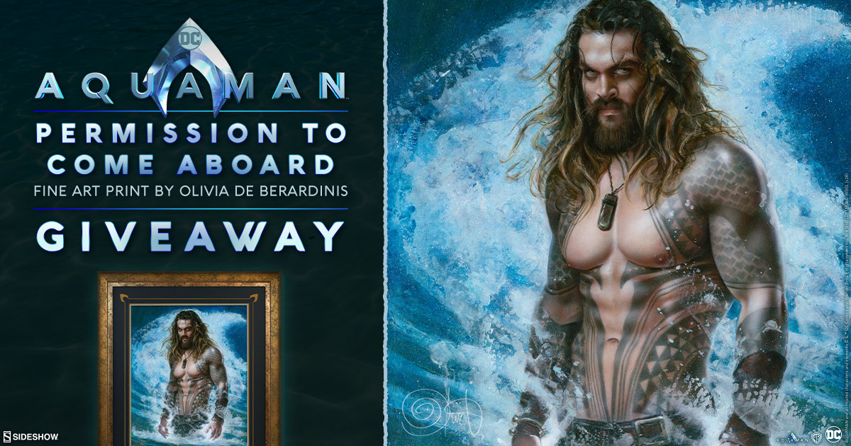 Aquaman Permission to Come Aboard Fine Art Print Giveaway