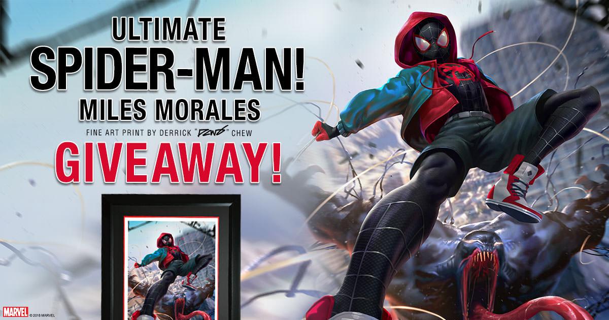 Ultimate Spider-Man Miles Morales Fine Art Print Giveaway!