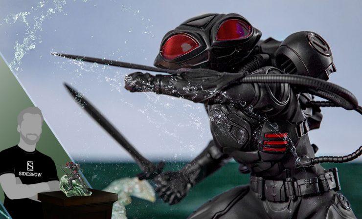 Black Manta Art Scale 1:10 Battle Diorama Statue - Aquaman