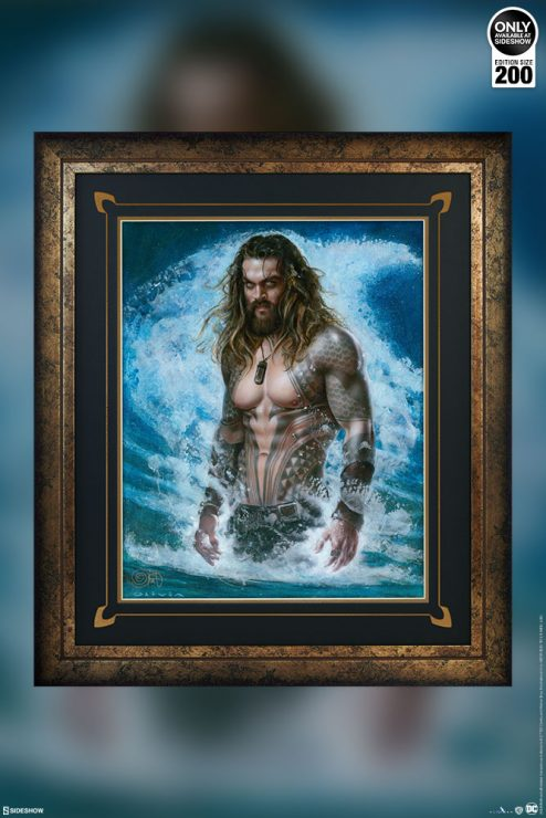 Aquaman Dives into Your DC Comics Collection in New Olivia Fine Art Print